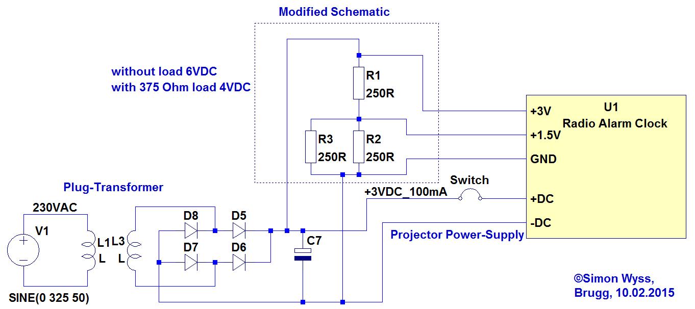 iROX Radio Alarm Clock external Power-Supply – Simon Wyss