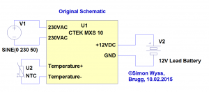 CTEK MXS 10 original schematic