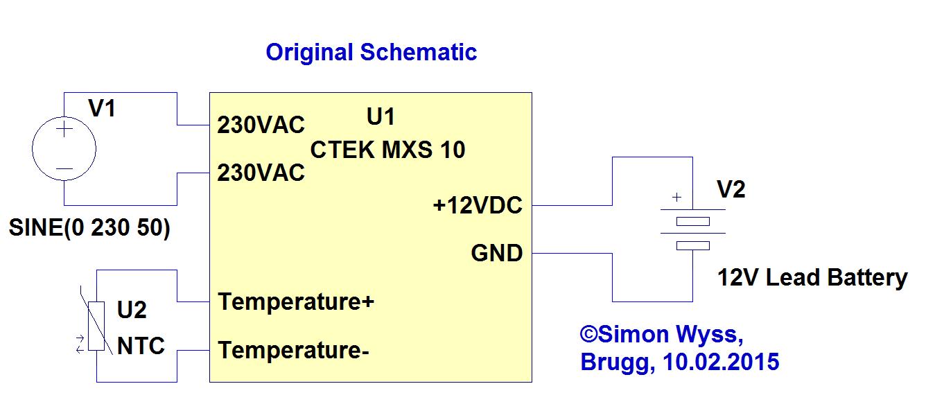 CTEK MXS 10 original schematic