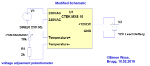 CTEK MXS 10 modified schematic
